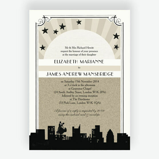 Vintage Hollywood Wedding Invitation