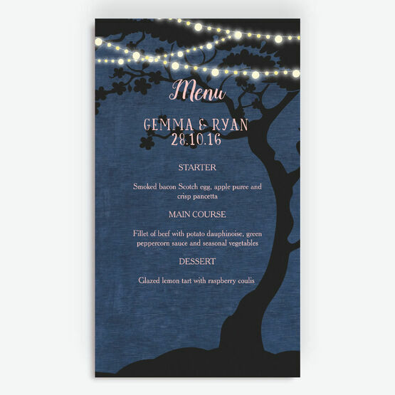 Enchanted Fairy Lights Menu