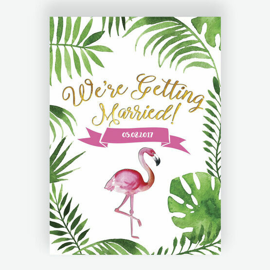 Flamingo Fiesta Tropical Wedding Invitation