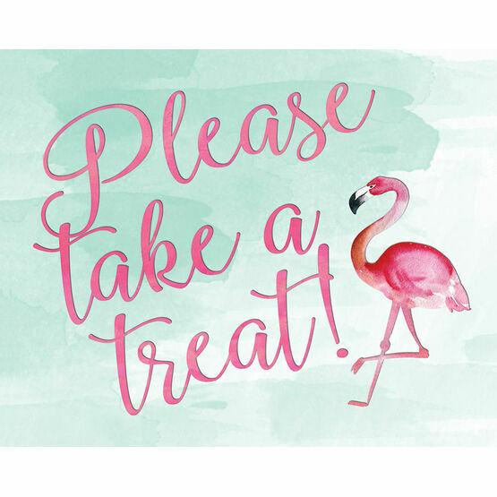 Flamingo Fiesta Wedding Sign - Take a Treat