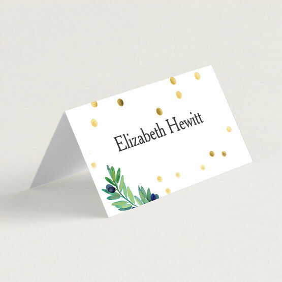 Olive Wreath Wedding Place Cards