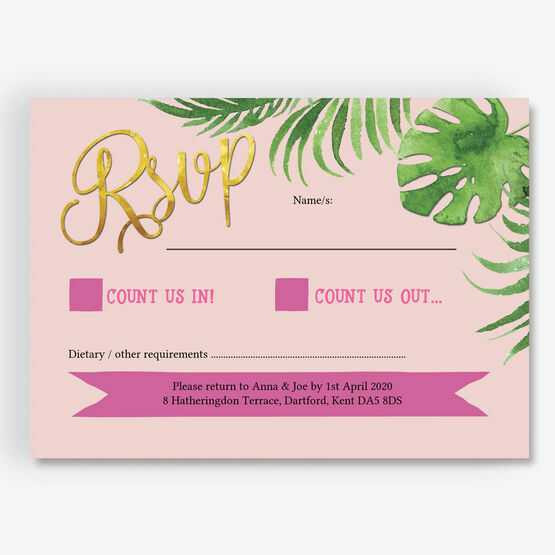 Flamingo Fiesta Tropical RSVP