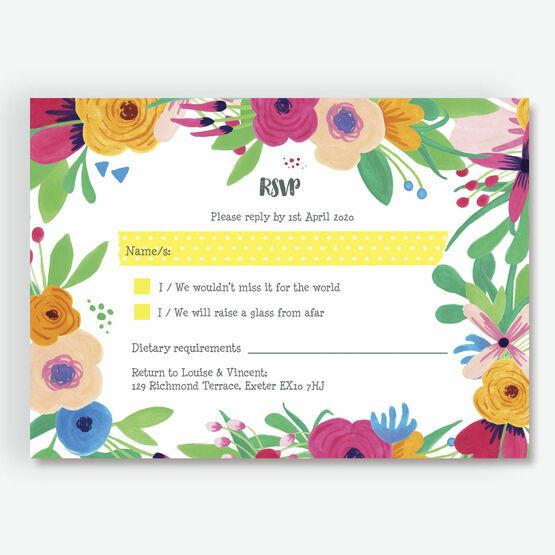 Floral Fiesta RSVP Card