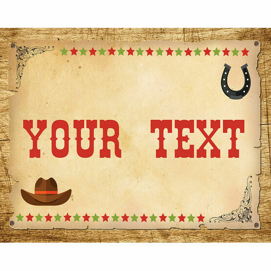 Cowboy Wild West Birthday Party Sign / Poster