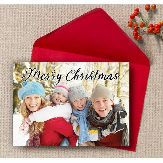 Calligraphy Photo Christmas Card