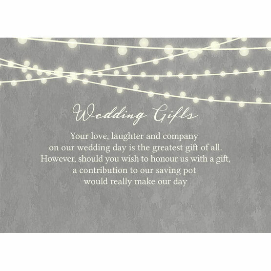 finest selection 8c25e 30001 Dove Grey Fairy Lights Gift Wish Card