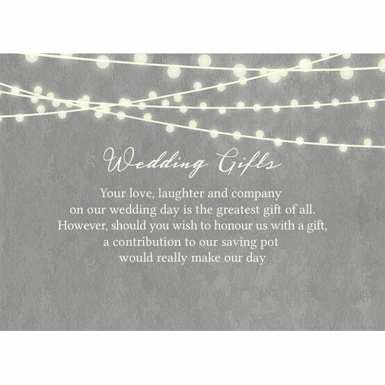 Dove Grey Fairy Lights Gift Wish Card