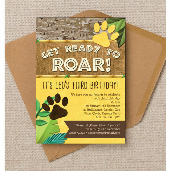 Lion / King of the Jungle Party Invitation