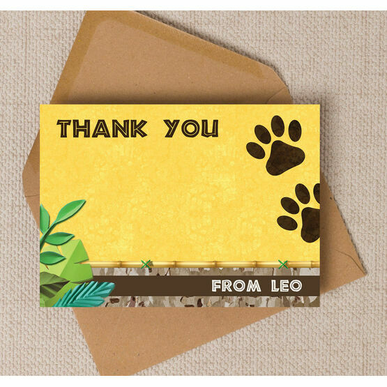 Lion / King of the Jungle Thank You Card