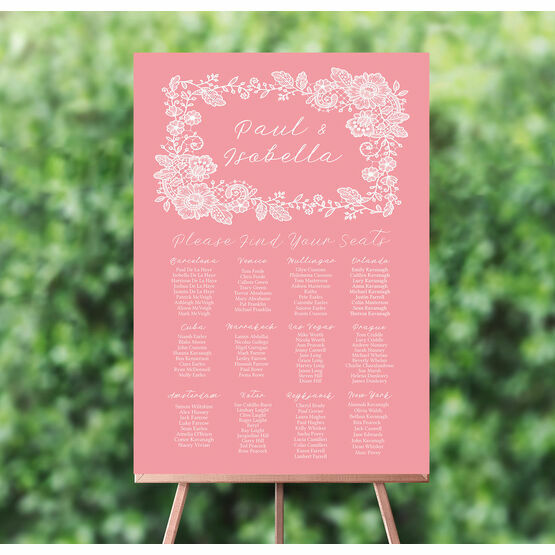 Floral Lace Wedding Seating Plan