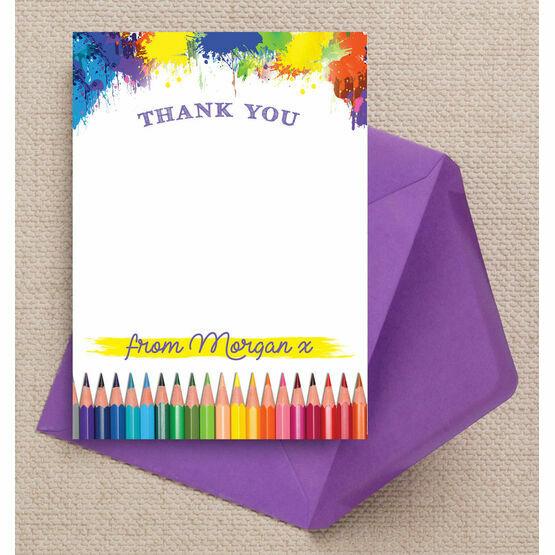 Art & Craft Themed Thank You Card