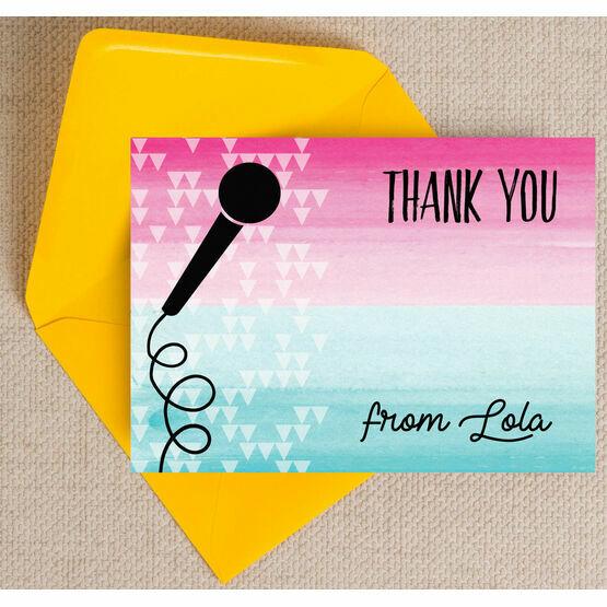 Karaoke Themed Thank You Card