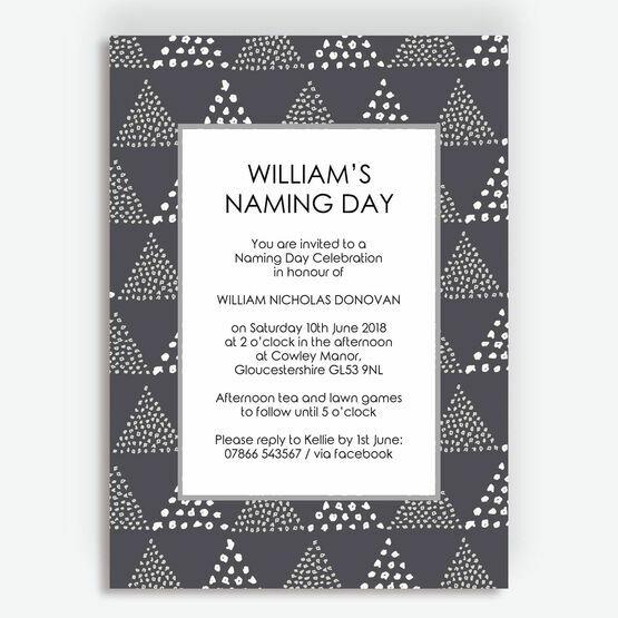 Geometric Naming Day Ceremony Invitation