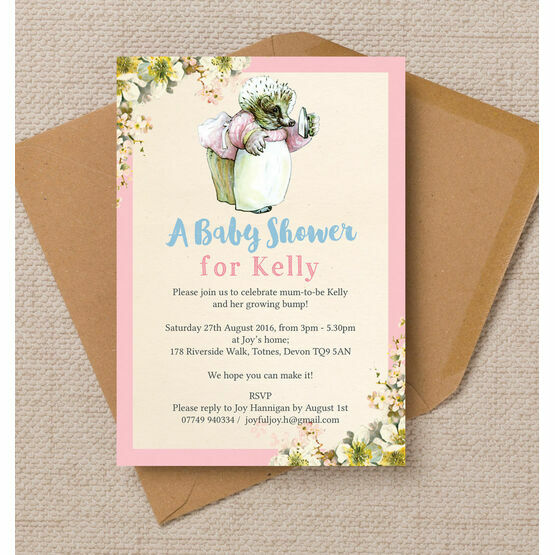 Mrs tiggy winkle baby shower invitation from 080 each mrs tiggy winkle baby shower invitation filmwisefo
