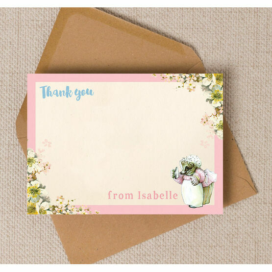 Mrs Tiggy Winkle Thank You Card
