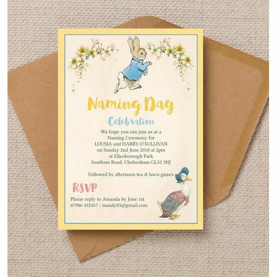 Peter & Jemima Naming Day Ceremony Invitation