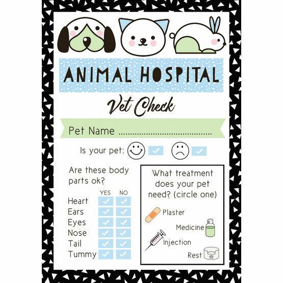 Pet Rescue Party Vet's Checklist - Blue