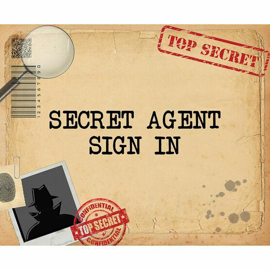 Spy Mission / Secret Agent Party Sign