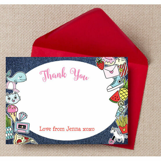 School's Out'  Teen / Tween Thank You Card