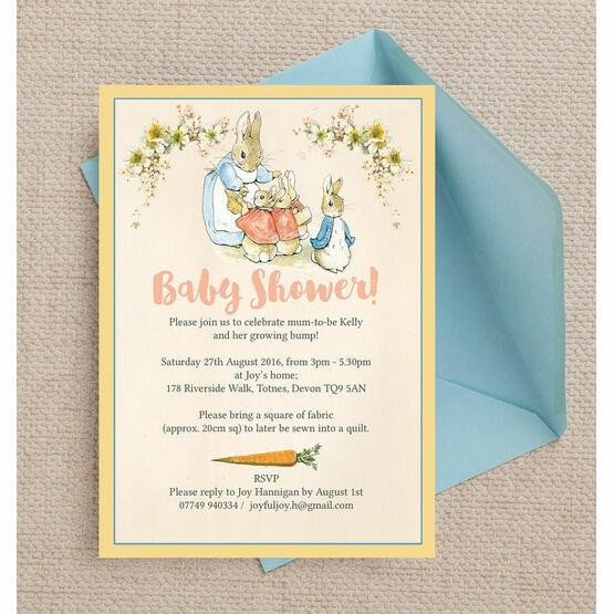 Flopsy bunnies beatrix potter baby shower invitation from 080 each flopsy bunnies beatrix potter baby shower invitation filmwisefo