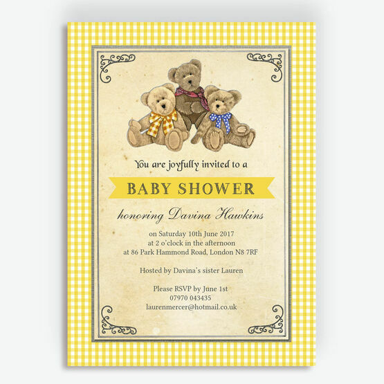 Teddy Bears' Picnic Baby Shower Invitation