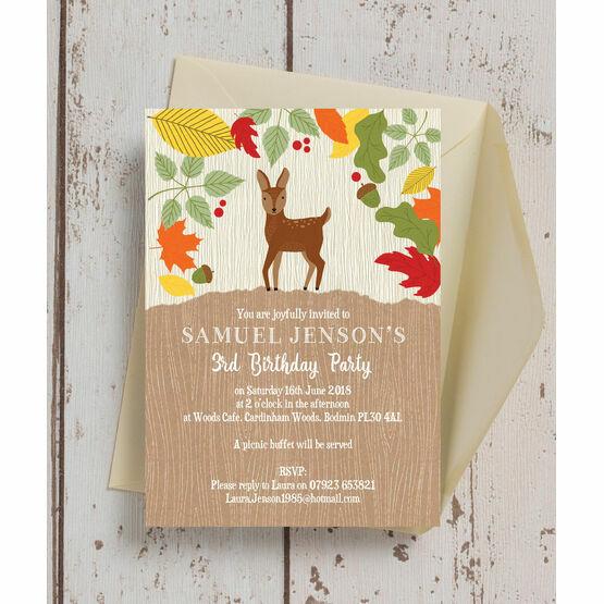 woodland animals birthday party invitation from 0 80 each