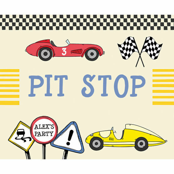 Racing Cars Party Sign