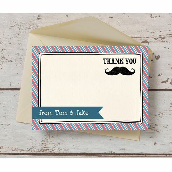 Little Man/ Moustache Themed Thank You Card