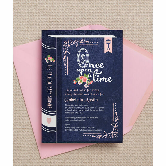 Storybook Fairytale Baby Shower Invitation From 080 Each
