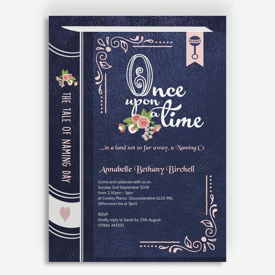 Storybook / Fairytale Naming Day Invitation