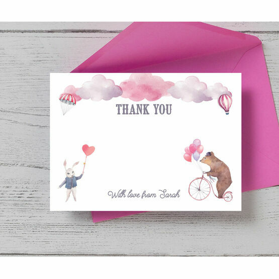 Circus Friends Thank You Card
