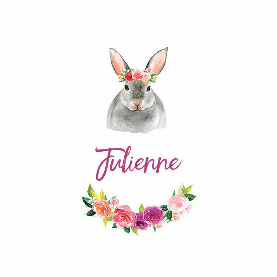 Flower Crown Animals Name Cards - Set of 9