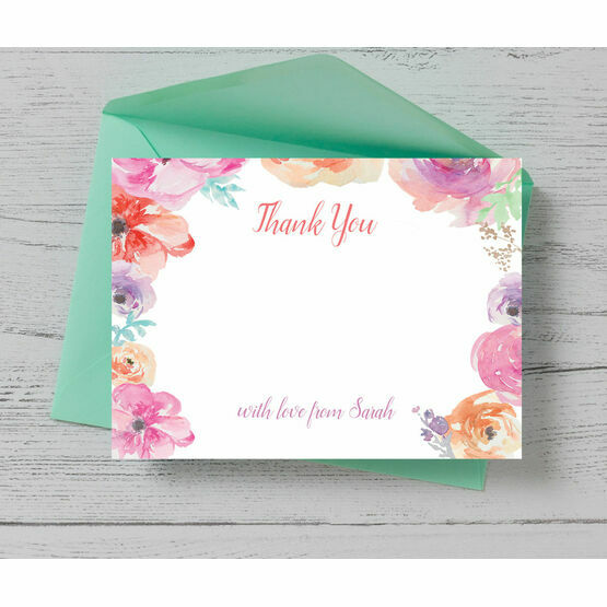 Pastel Floral Thank You Card