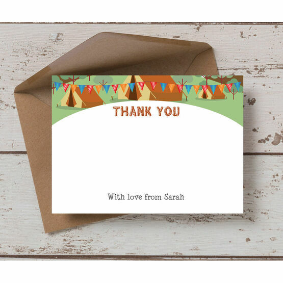 Camping Themed Thank You Card