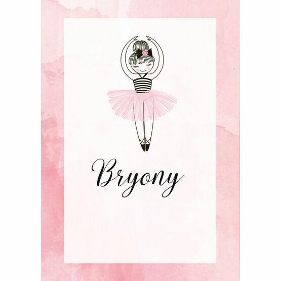 Prima Ballerina Name Cards - Set of 9