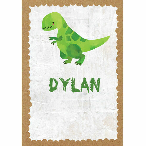 Dinosaur Themed Name Cards - Set of 9