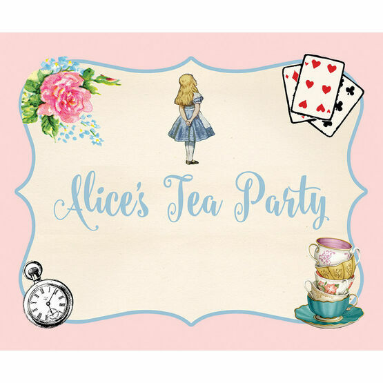 Alice in Wonderland Party Sign