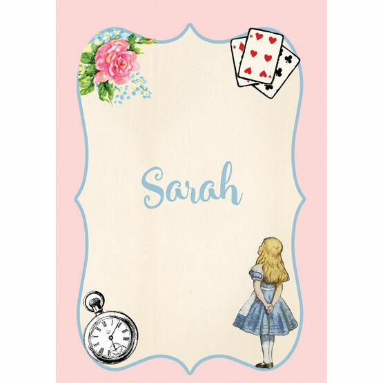 Alice in Wonderland Name Cards - Set of 9