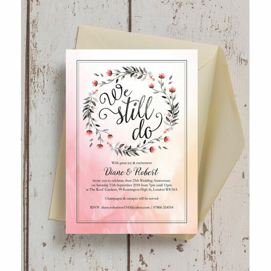 'We Still Do' 25th / Silver Wedding Anniversary Invitation from £0.90 each