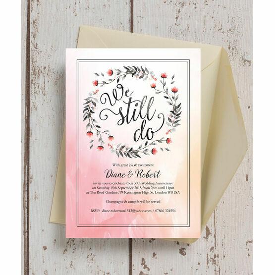 We Still Do' 30th / Pearl Wedding Anniversary Invitation