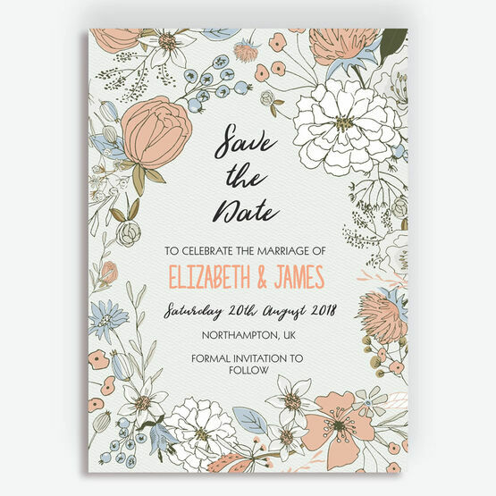 Wild Flowers Wedding Save the Date