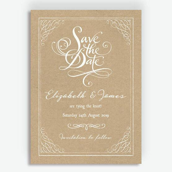 Rustic Kraft Wedding Save the Date