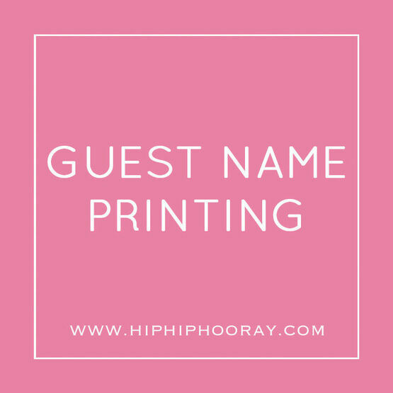 Guest Name Printing