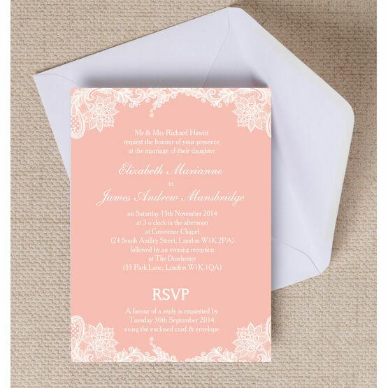 Romantic Lace Wedding Invitation