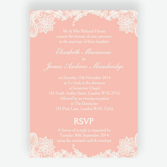 Romantic Lace Wedding Invitation