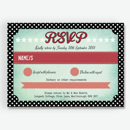 Rockabilly Retro RSVP