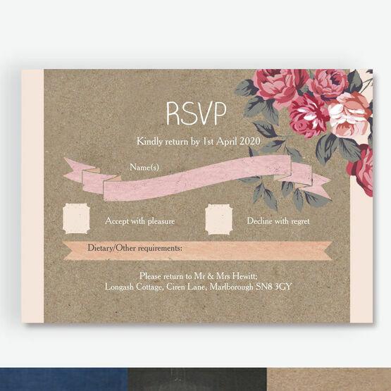 Rustic Floral RSVP