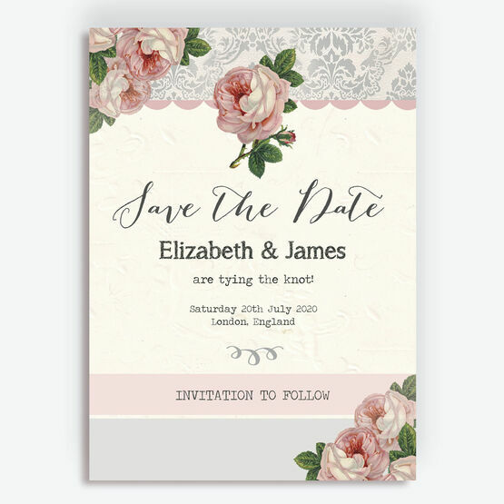 Sweet Vintage Save the Date