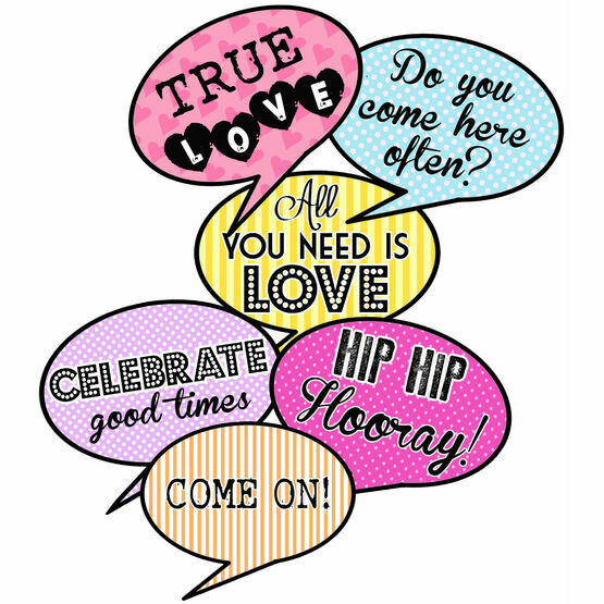 graphic about Speech Bubble Printable referred to as Printable Speech Bubble Slogan Props simply just £2.50