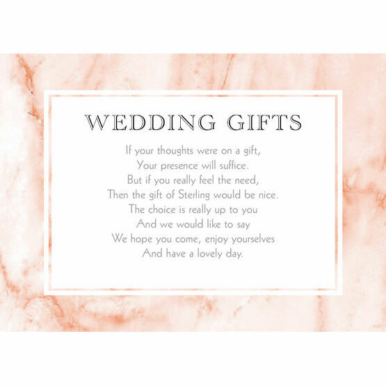 Blush Marble Gift Wish Card